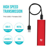 THU Original Mini SSD 128GB External HD Solid State Drive 256GB 512GB 1TB Portable SSD USB3.1 400MB/s for PC Laptop Notebook
