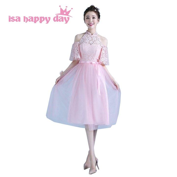 Elegant Romantic Pink Wedding Gowns: Robe De Mariage Light Pink Elegant Romantic Sleeved Tulle