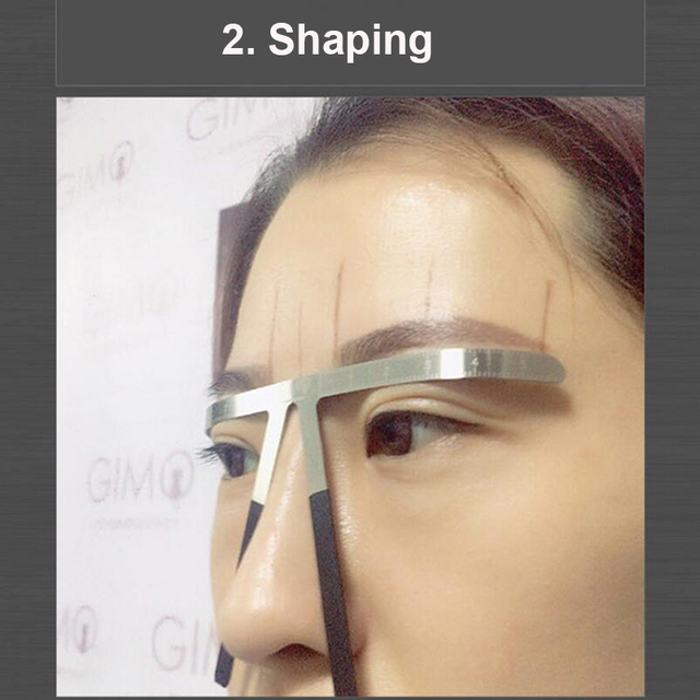 Microblading Tools Eyebrow Ruler Stencil Permanent Makeup Accesories Supplies Golden Ratio Microblade 3D Eyebrow Measuring Tools 3