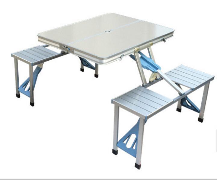 Tables de plage de table jointes extérieures polyvalentes table d'exposition de publicité bureau de pique-nique pliant