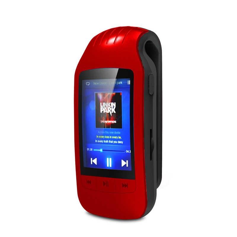 HOTT Клип Спорт Мини аудио Bluetooth Mp3 плеер Музыка Mp-3 Mp 3 с экраном Hifi Flac Usb 8 ГБ Цифровой FM радио без потерь Walkman