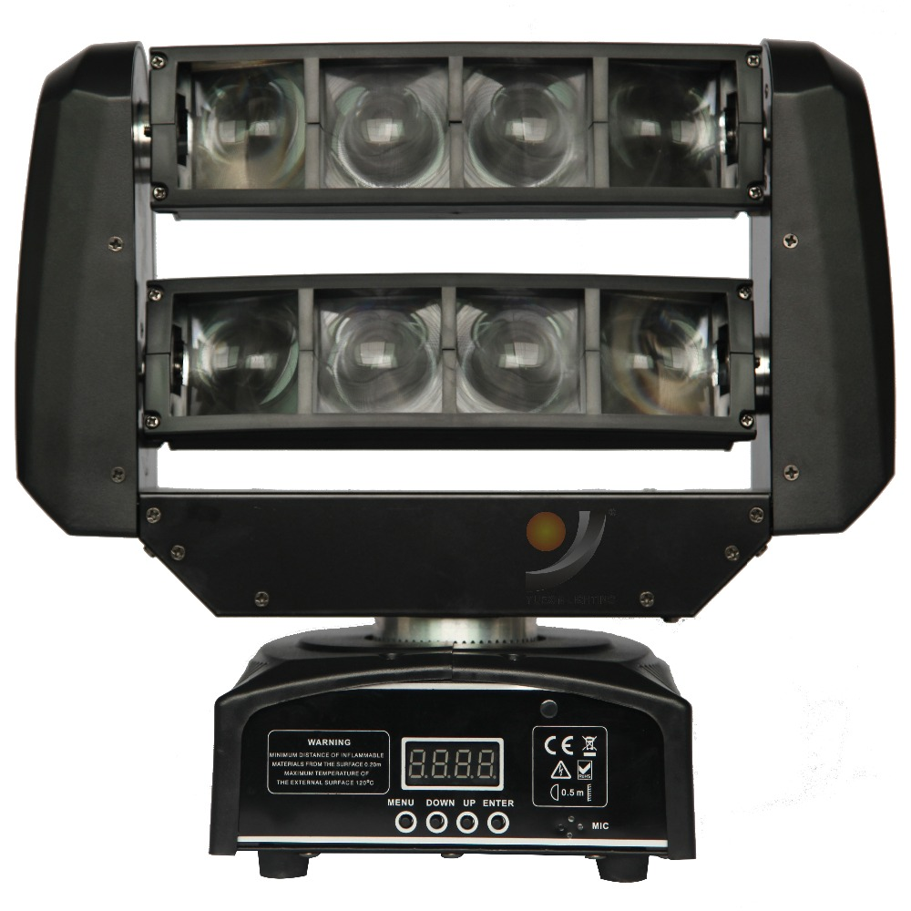 8x3W RGBW Mini Spider Moving Head Light for party disco dj event stage show