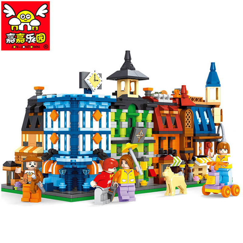 1546PCS City Series Grand Hotel Model Building Blocks Educational Enlighten DIY Figure Toys For Children High Quality Gift HOT decool 3114 city creator 3in1 vehicle transporter building block 264pcs diy educational toys for children compatible legoe