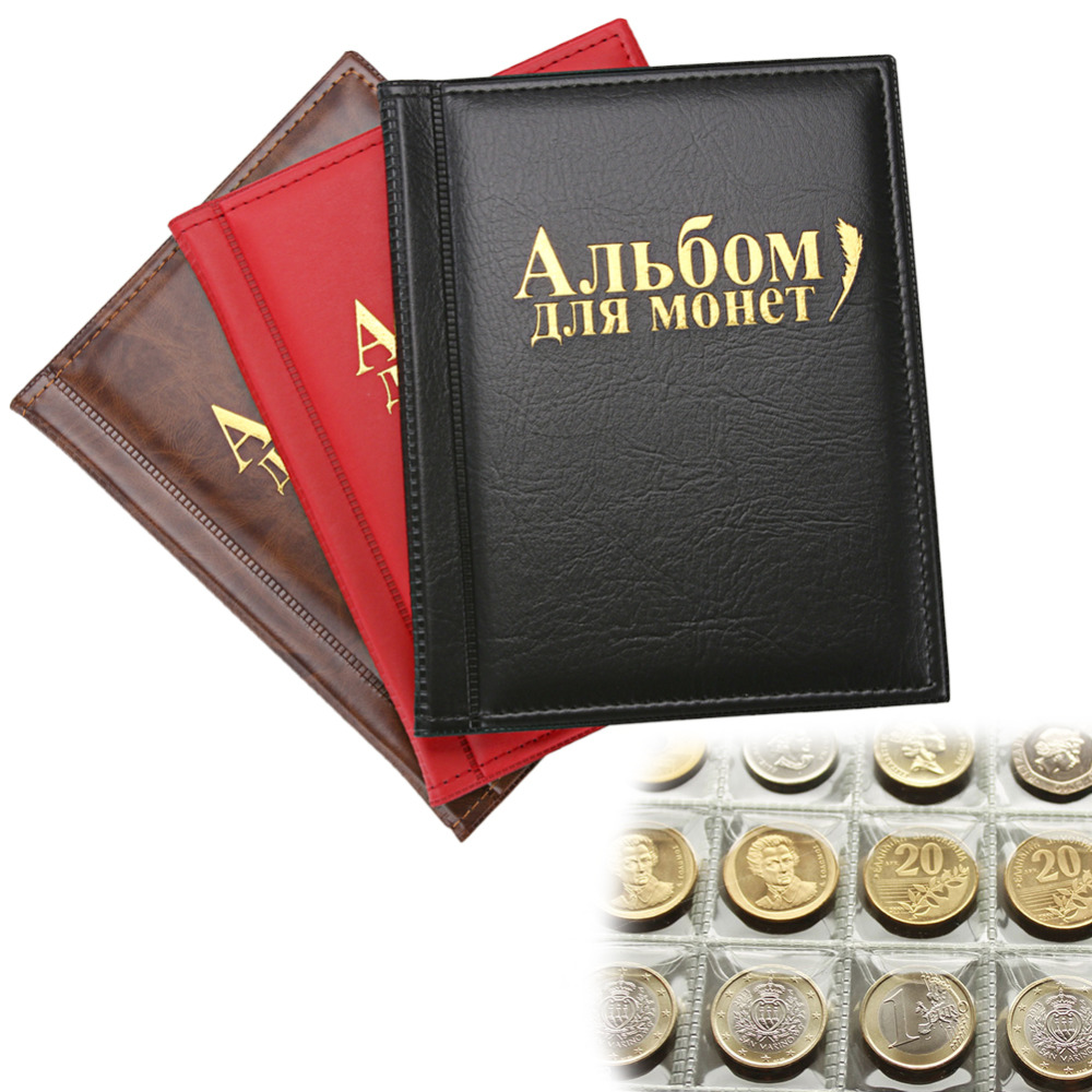 250 Pokets Russian Coin Album 10 pages Units Coin Collection Notes Coin Holders for Coins Tokens Medallions Badges Photo Album