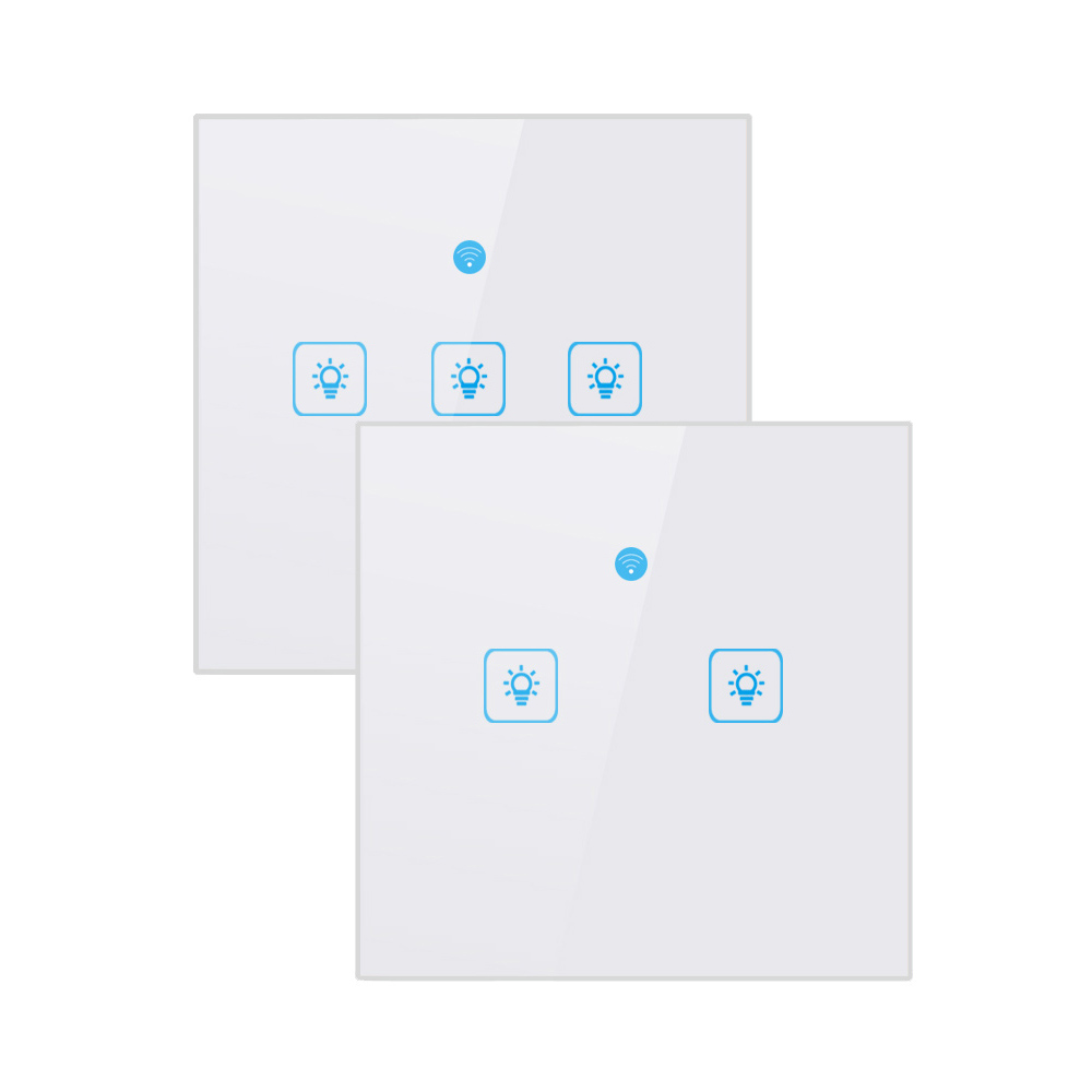 Image 2 - Ewelink Touch Switch Wifi 2.4G Smart Home Touch Switch Wall Panel EU /UK Standard Smart Led Wifi Control Alexa-in Home Automation Modules from Consumer Electronics