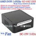 Лучший mini компьютер с DVI-D 19VDC приталенный нечетные CD-ROM 4 G RAM 64 G SSD AMD APU E450 1.65 ГГц Radeon HD6310 ядро windows или linux