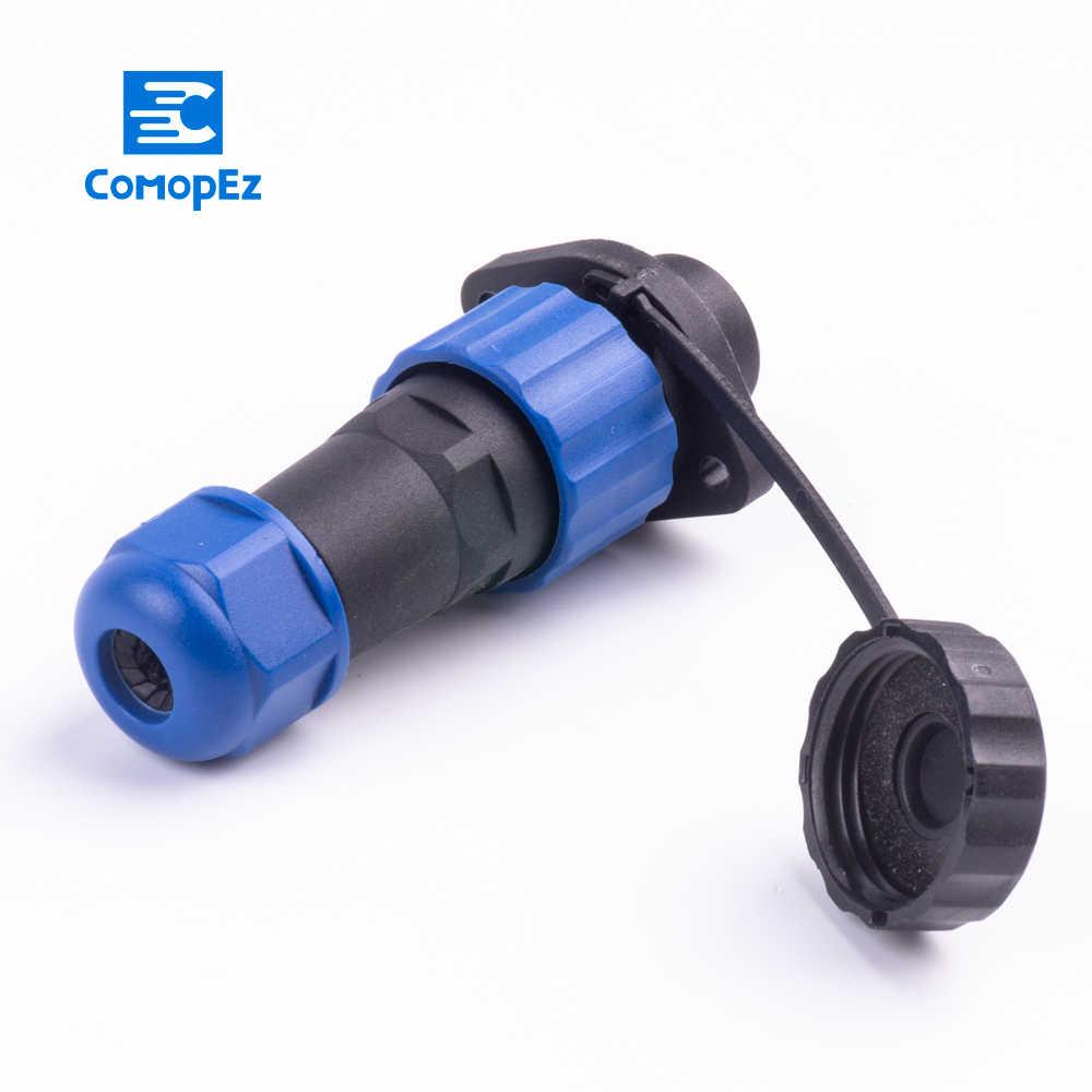 Tahan Air Konektor SP16 Tipe IP68 Kabel Konektor 2 Lubang Plug & Socket Pria dan Wanita 2/3/4 5 6 7 9 Pin SD16 16 Mm