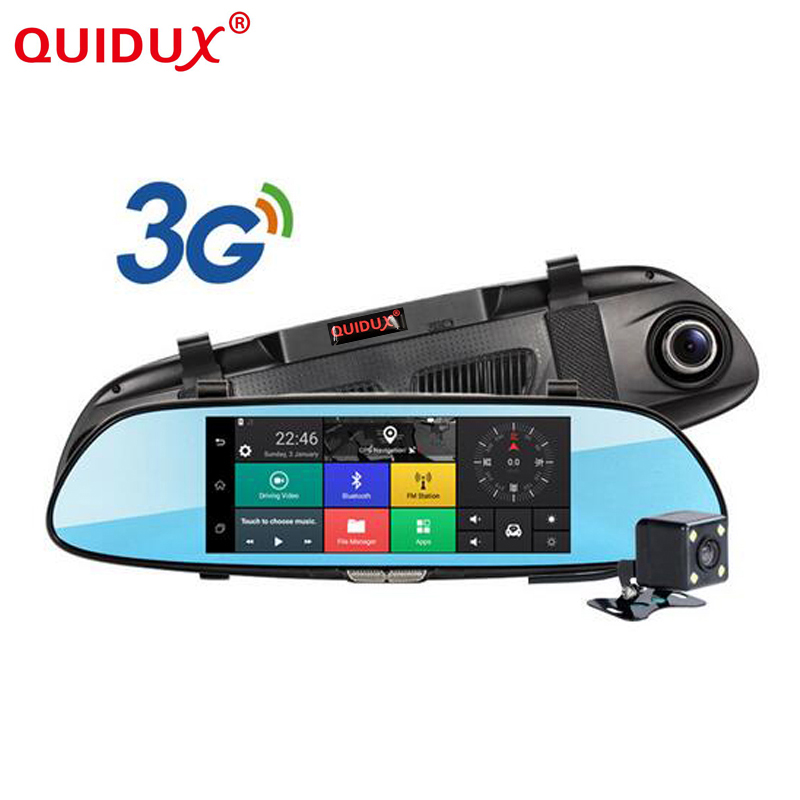 QUIDUX 7 0 inch 3G font b Car b font DVR video mirror Android GPS FHD