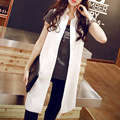 Spring and summer waistcoat suit vest medium-long fashion vest plus size outerwear female
