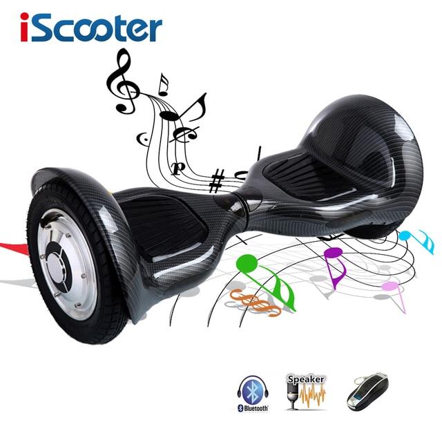 Iscooter hoverboard 6.5 дюймов и 10 дюймов Smart Баланс 2 колеса электрический самокат Bluetooth скейтборд с удаленным giroskuter UL2722