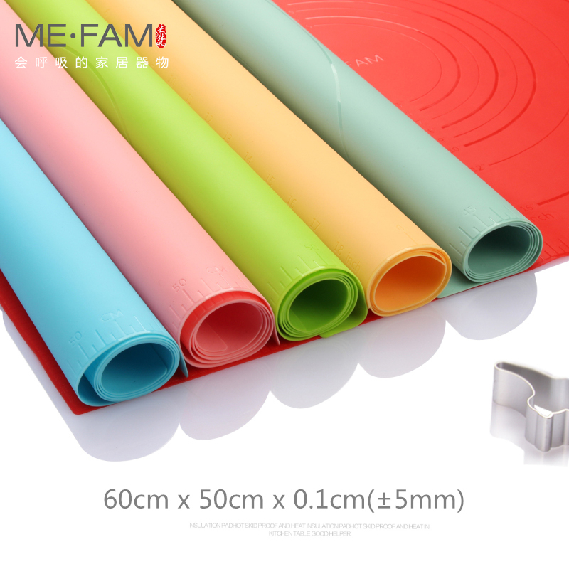 ME.FAM New Large Size 60x50cm Ripples Silicone Baking Mat Non-slip Heat Resistance Kneading Dough Placemat Non-Stick Pastry Pads