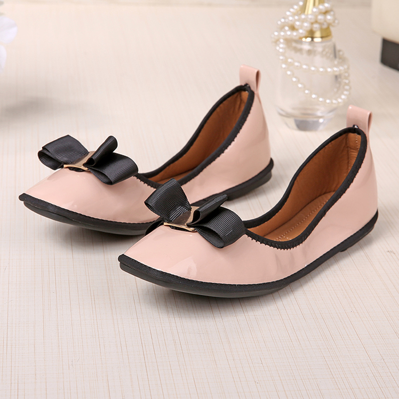 Chaussures automne à bout rond roses Casual femme wf67U