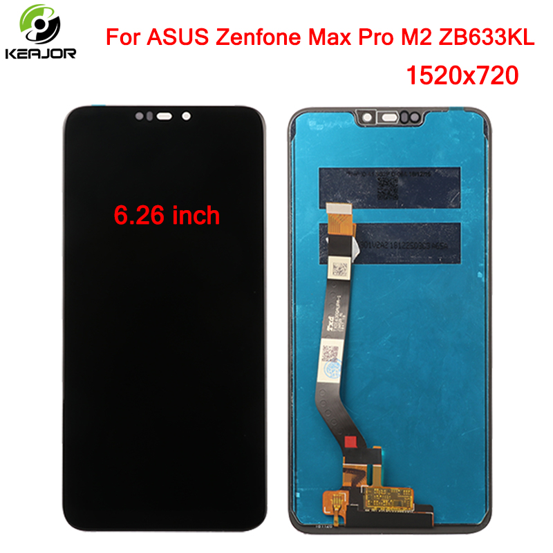 Display For ASUS Zenfone Max Pro M2 ZB633KL LCD Display Touch Screen Panel Glass Accessories Telephone