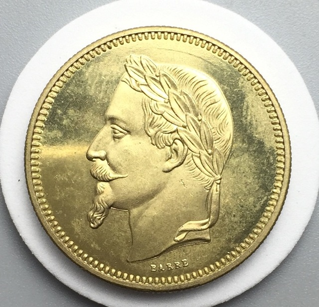 France 1867 Napoleon Iii Essai Monetaire 5 Dollars 25 Francs Gold Br Crafts Copy Coin