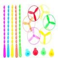 5 ШТ. Открытый инновационных Bamboo Baby Летающие Игрушки Стрекоза Блюдце Безопасности Красочные НЛО 2-15Y Малыша Игрушки Веселые Спортивные Хорошие Подарки