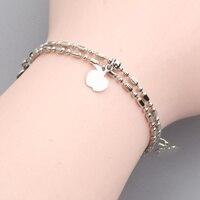 Apple Fadeless No allergy Silver Bracelet BY0060