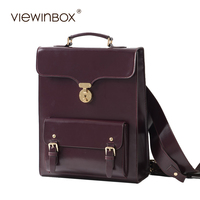 Viewinbox Fashion Women Leather Backpack Versatile Superior Split Cowhide Leather Backpacks Stylish 2017 For Lady