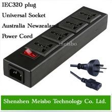 Tomada de Extensão Multifunções 250 V 13a de Energia 1.8 M 4 Tomada Universal Adaptador Iec320 Cabo DA Austrália Conversor