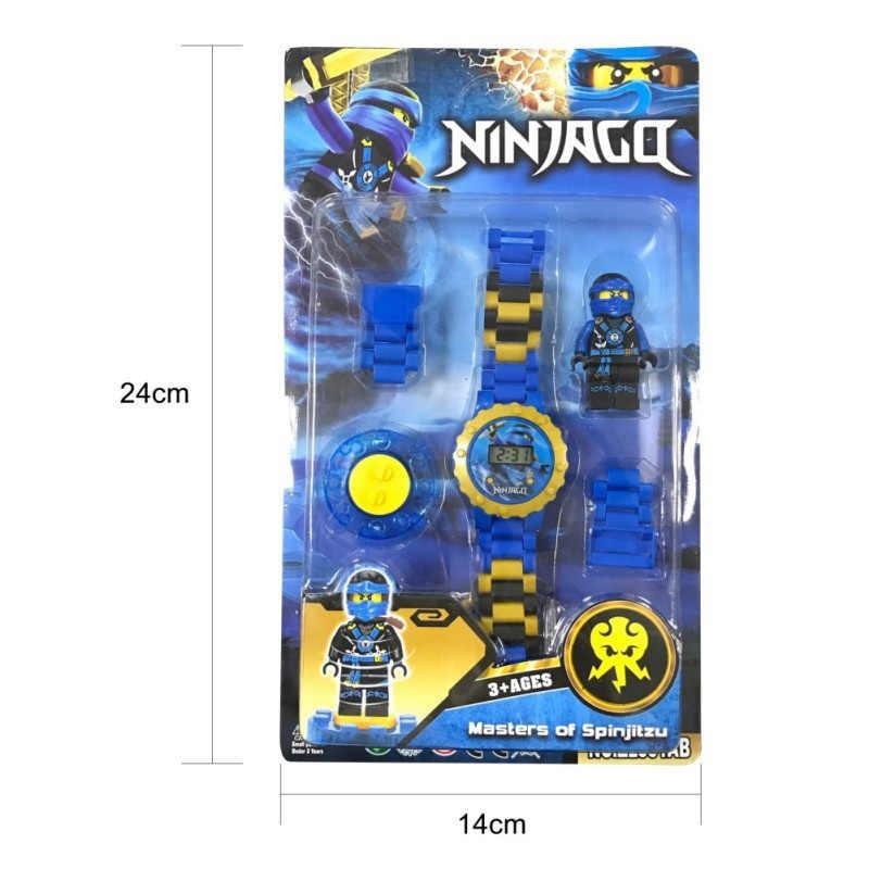 Super herói relógio blocos de construção ninjagoed marveling avengers figuras tijolos brinquedos compatíveis com legoed minecrafted bloco relógio