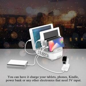 Image 4 - NTONPOWER Multi Porte USB della Stazione Del Caricatore Dock 5V2.4A con il Telefono Dellorganizzatore Del Supporto caricabatteria da Tavolo per il Telefono Tablet xiaomi iPhone