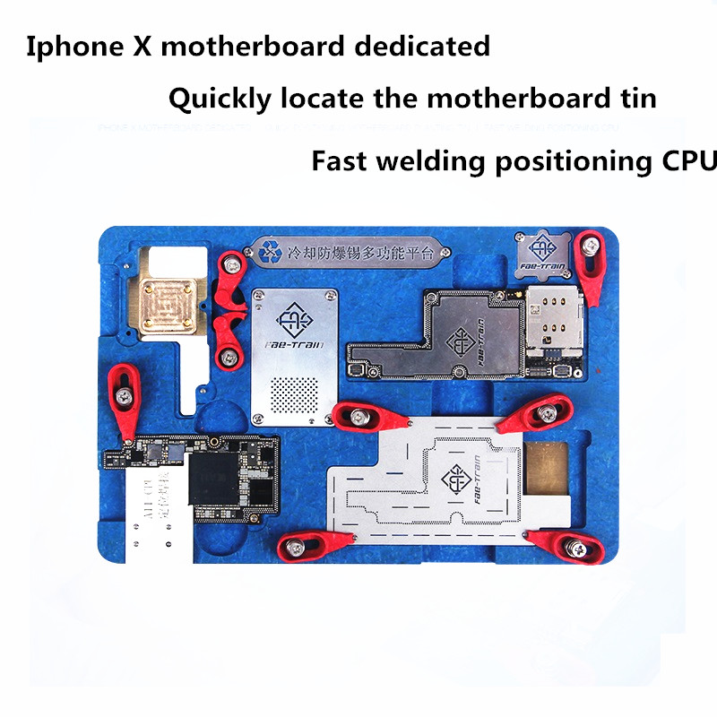 цена на Eplosion-proof Cooling Tin Multi-functional Platform For Phone X Motherboard Fixture Circuit Board PCB Holder Jig Tin planting