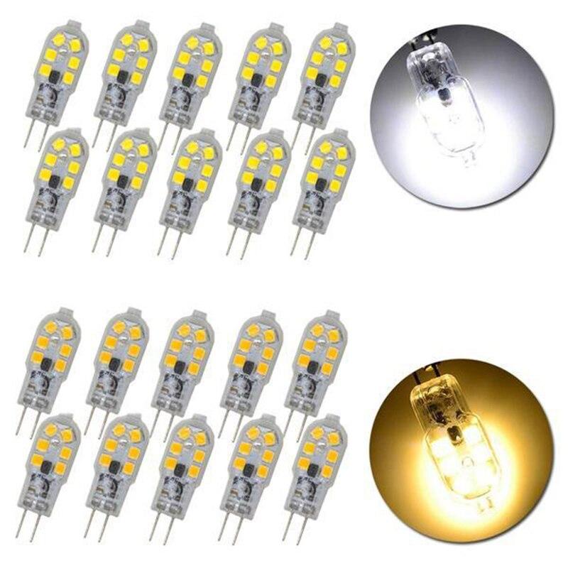 2019 New Arrival 10pcs/set G4 3W 12 LED Light Bulb - Transparent + Silver AC/DC 12V