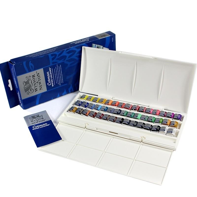 WINSOR & NEWTON 45 couleurs aquarelle peintures Cotman solide artiste eau couleur pigment Art dessin fournitures