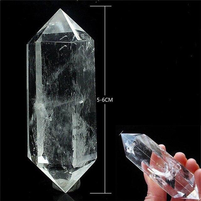 50-60MM 100% Natural White Fluorite Crystal Quartz Crystal Stone Point Healing Hexagonal Wand Treatment Stone Dropshipping