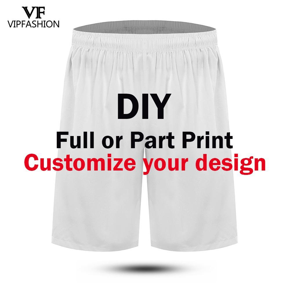 VIP FASHION Summer Men's Print Beach Shorts DIY Custom Beach Shorts 3D Printed Fitness Pants Custom Own Picture Streetwear