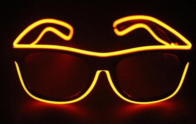 5d06f6197d El Wire Glow Eye Glasses Led DJ Bright Safety Light Up Led flashing glasses  Cool Halloween Christmas Birthday Party Eyewear gift