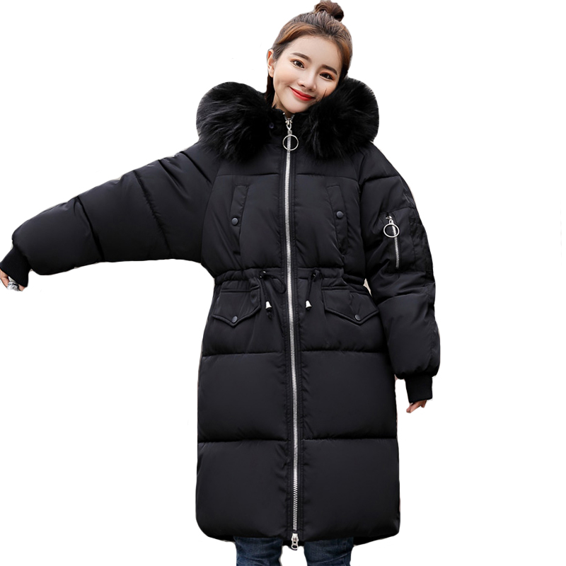 Warm Thicken Women Winter Long Parka Womens Jackets Hooded With Fur Cotton Padded Outwear Female Coat Coats High Quality 2019