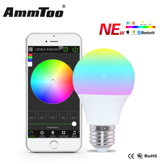 Bluetooth 4.0 LED Lamp Smartphone App Afstandsbediening Led Licht ...