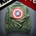 Осень Ввс MA-1 Куртки Молодежи Тонкий Бейсбол Носить Тонкий Печатных Куртки