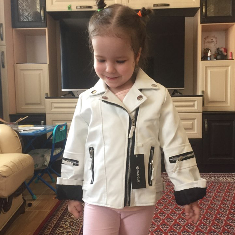 girls PU jacket 1-7 years old baby children coat zipper motorcycle faux leather kids Clothes spring autumn Cute little girl girls PU jacket 1-7 years old baby children coat zipper motorcycle faux leather kids Clothes spring autumn Cute little girl