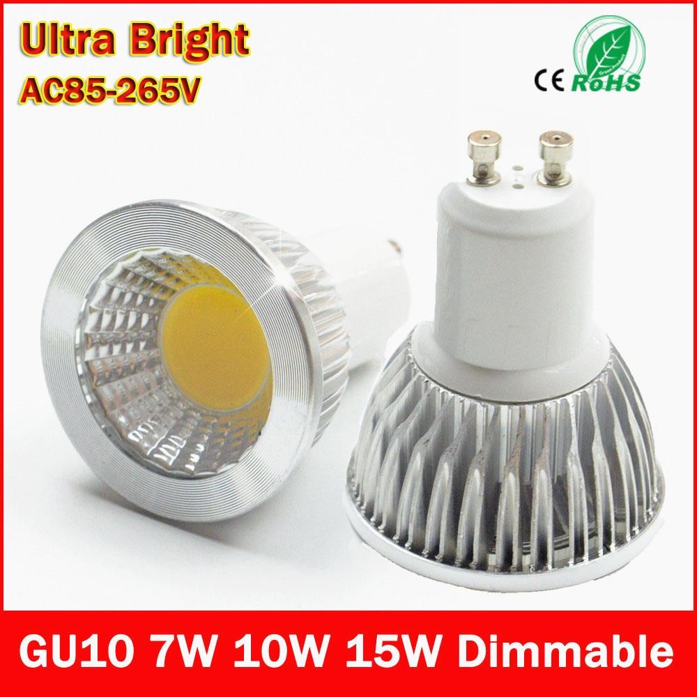 led bulb gu10 cob led spot light 7w 10w 15w gu10 led spotlight bulb lamp light dimmable ac85v. Black Bedroom Furniture Sets. Home Design Ideas