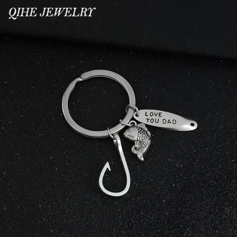 Popular fishing keyrings buy cheap fishing keyrings lots for Fish hook keychain