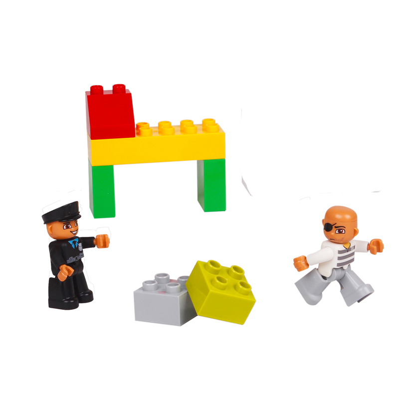 UMEILE-16-Style-Original-Classic-Big-Building-Block-Cowboy-Cake-City-Girl-Figure-Kids-Toys-Compatible-with-Duplo-Christmas-Gift-4