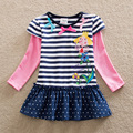 Новые бен холли королевство 2016 девушка майка Nova детские футболки для девочек детской одежды осень/весна сладко t рубашка одежда
