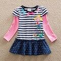 Nueva ben holly unido 2016 chica camiseta Nova bebé de la camiseta para las niñas niños ropa de otoño/primavera dulce t camisa de la ropa