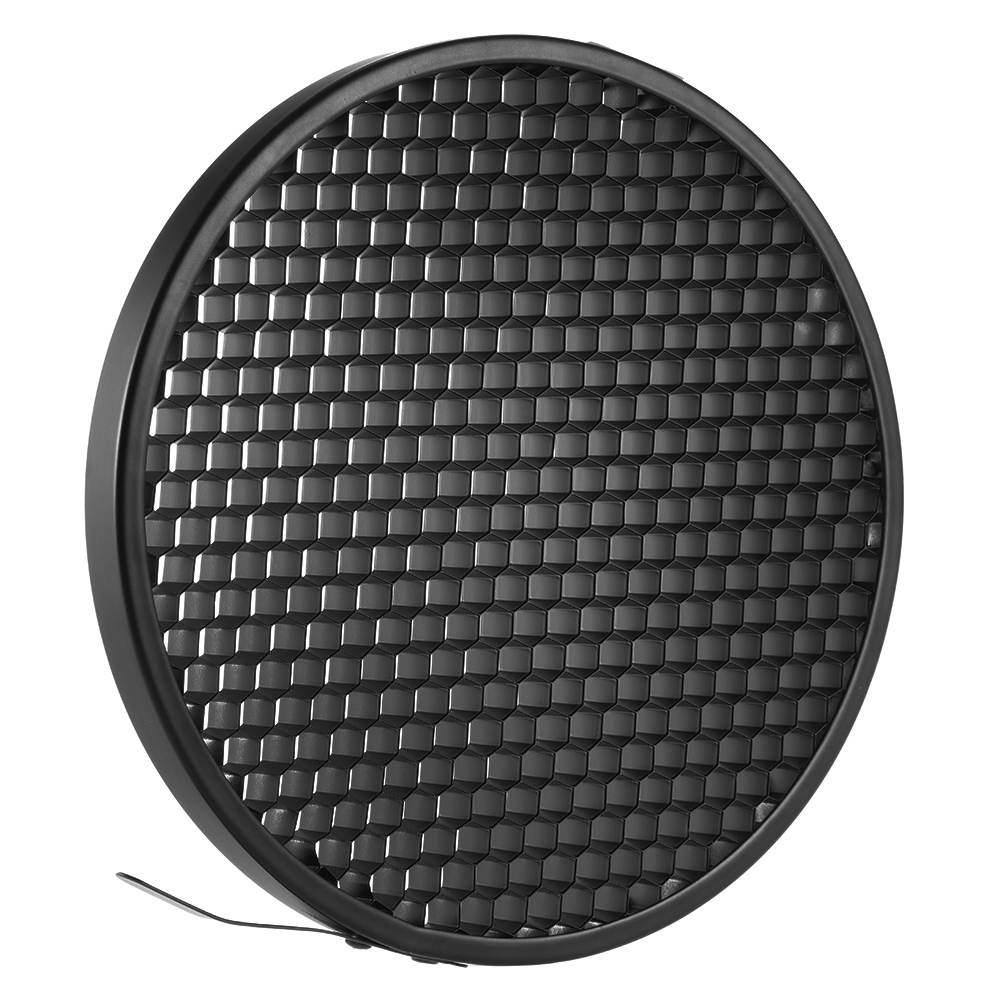 Haoge 7 Standard Reflector Diffuser Lamp Shade Dish For: 16.8cm 60 Degree Aluminum Photo Studio Honeycomb Grid For