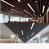 led strip lights office ceiling U shaped aluminum shopping malls bar bars custom lighting project office lighting fixture led