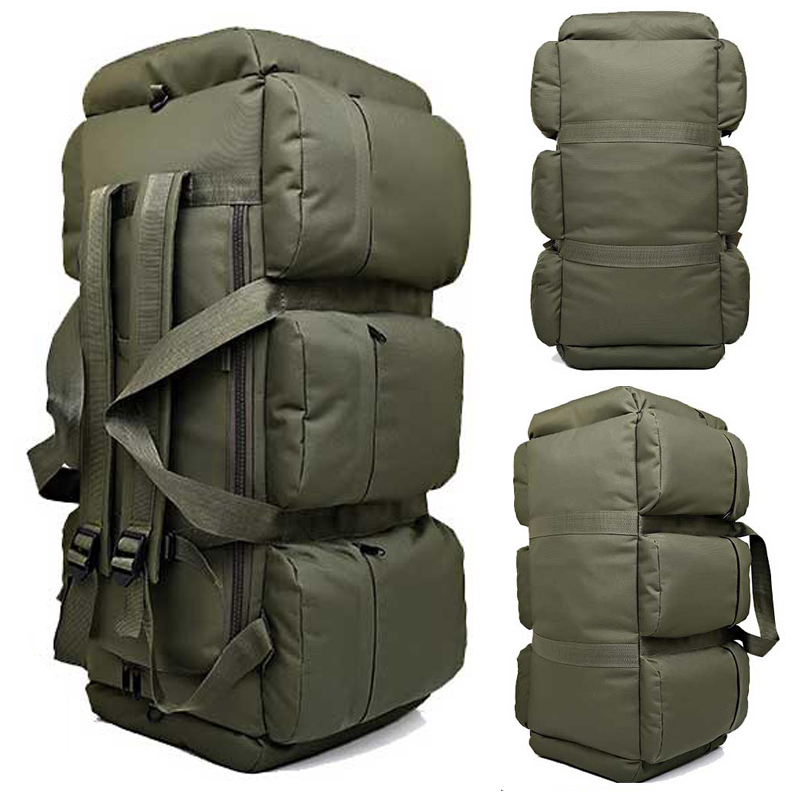 Hot Top Quality 90l Large Capacity Outdoor Military Travel Bags Oxford Canvas Backpack Camouflage Duffel Bag Waterproof In Climbing From