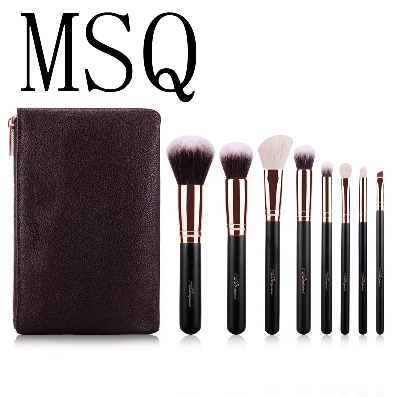 MSQ 8pcs Makeup Brushes  Powder Foundation Brush Eyeshadow Eyeliner Lip Beauty Make up Brush Tools Eye Brush Set 24pcs makeup brushes set cosmetic make up tools set fan foundation powder brush eyeliner brushes leather case with pink puff