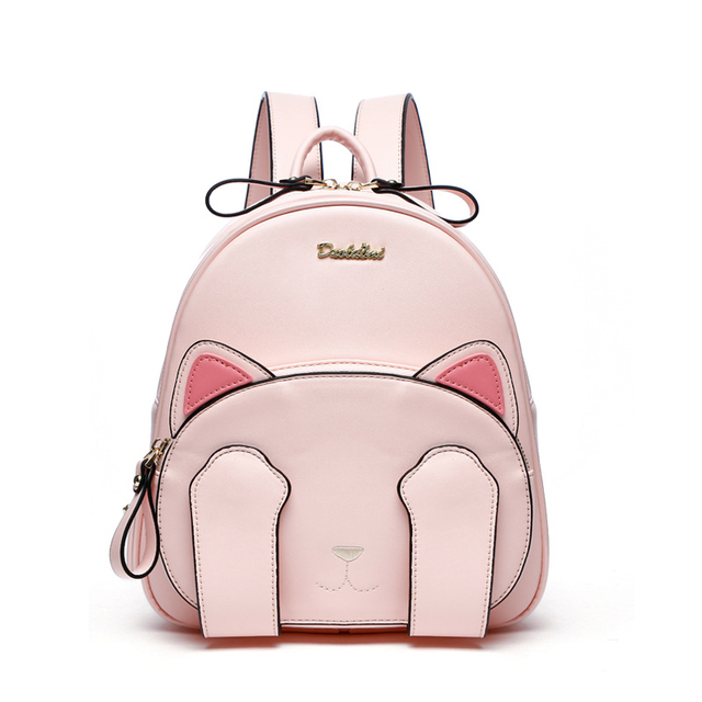 2018 New Women Cute Cat Backpack Kawaii Backpacks School Bag For Student Teenagers Lovely Rucksack Cartoon Bookbags Mochilas