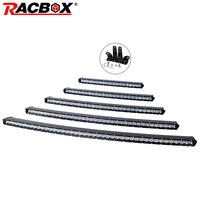 RACBOX 5D Curved Slim LED Light Bar Single Row 20 26 33 38 44 90W 120W 150W 180W For SUV 4X4 ATV Off Road LED Work Light