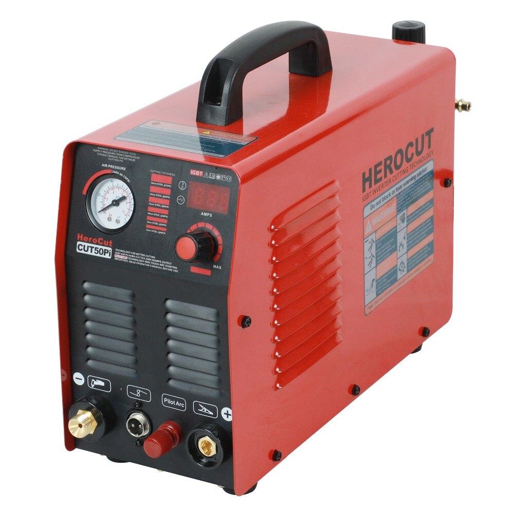 IGBT Arco Pilota HF CUT50Pi 50 Amps DC macchina di taglio Plasma Ad Aria Taglio al plasma Taglio Spessore 14mm Taglio Pulito