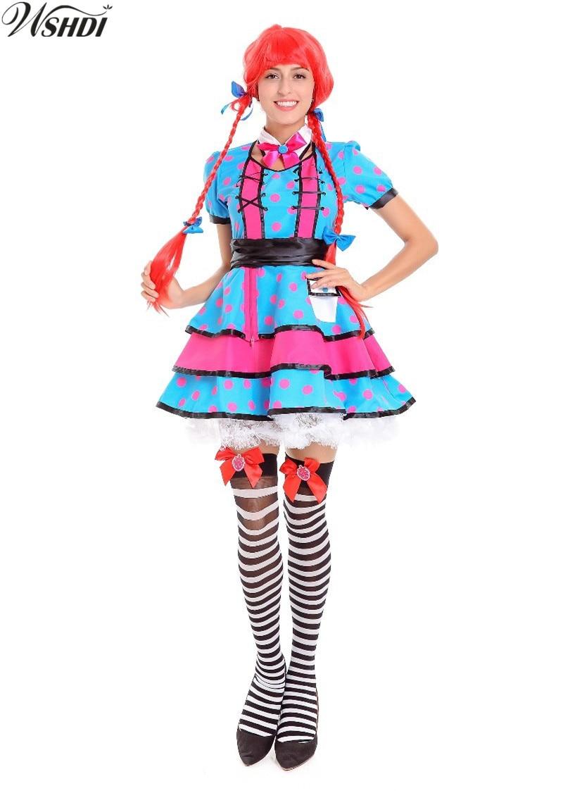 New! German Bavarian Beer Girl Uniforms Oktoberfest Costume Gothic Lolita Maid Fancy Dress