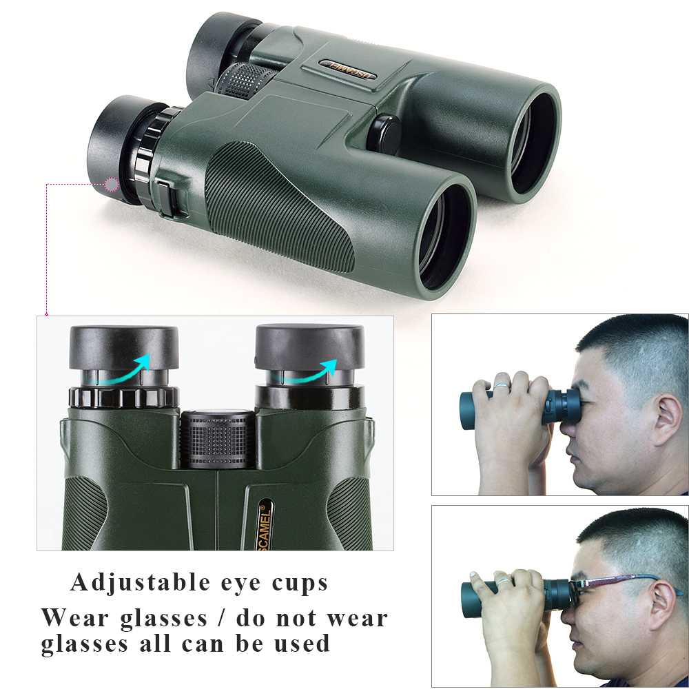 Image 5 - USCAMEL Military HD 10x42 Binoculars Professional Hunting Telescope Zoom High Quality Vision No Infrared Eyepiece Army Green-in Monocular/Binoculars from Sports & Entertainment