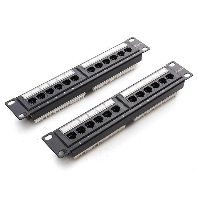 12 Port RJ45 Patch Panel UTP Cat6/Cat5e Ethernet Lan netzwerkadapter ...