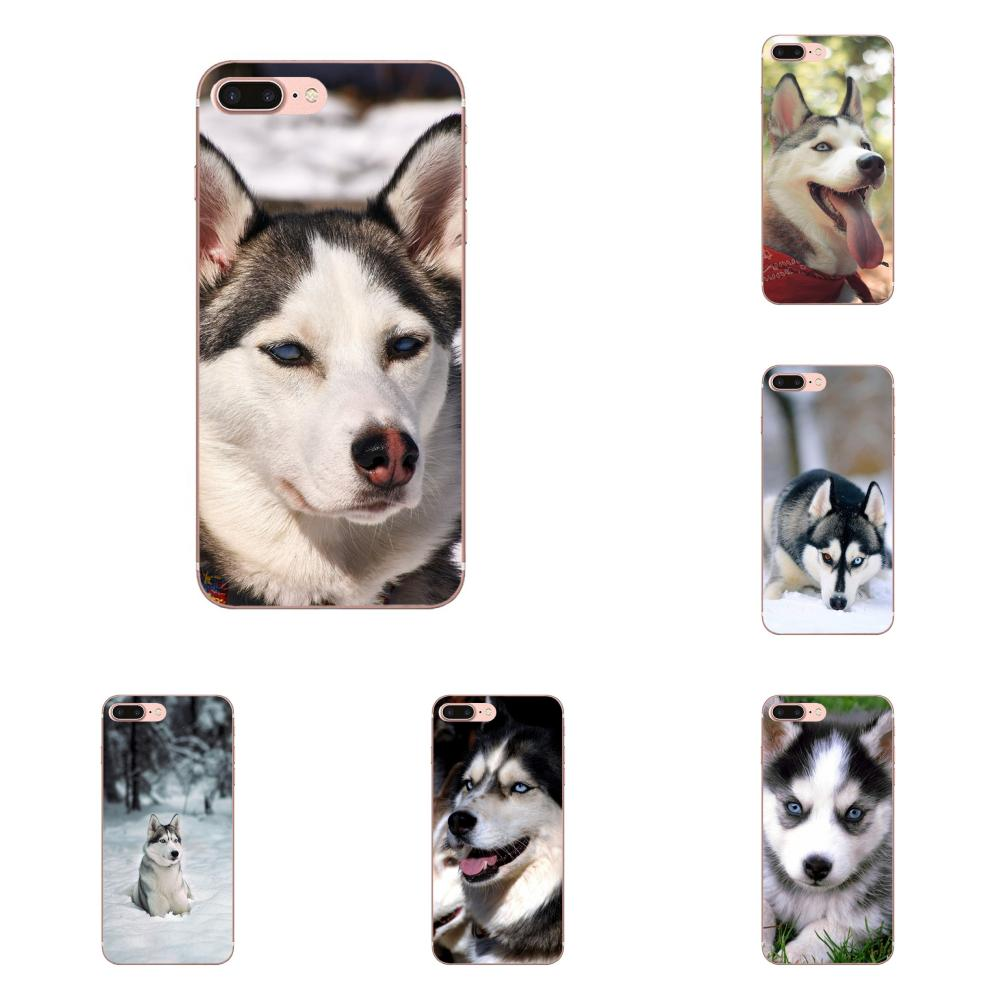 For Xiaomi Redmi Mi Note 7 8 9 SE Pro Lite Go Play Soft Phone Alaskan Malamute <font><b>Siberian</b></font> <font><b>Husky</b></font> Dog image